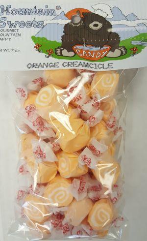 Mtn Sweets Taffy Bags-Orange Creamcicle