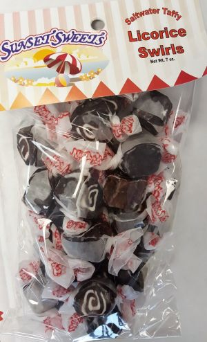 S.S. Sweets Taffy Bags-Black Licorice Swirl
