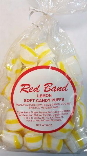 Red Band Soft Candy Puff Bag Lemon