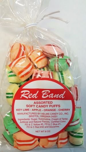 Red Band Soft Candy Puff Bag Assorted