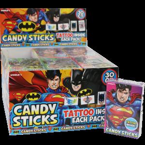 Batman/Superman Candy Sticks