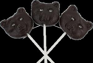 Black Bear Face Lollipops