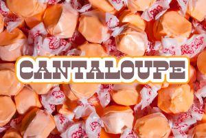 Bulk Taffy Kisses-Cantalope