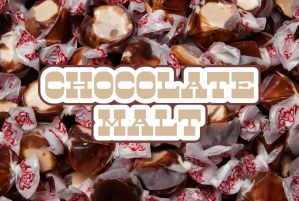 Bulk Taffy Kisses-Chocolate Malt