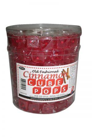 Cinnamon Cube Lollipops