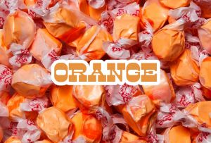 Bulk Taffy Kisses-Orange