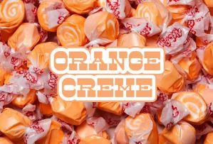 Bulk Taffy Kisses-Orange Creamcicle