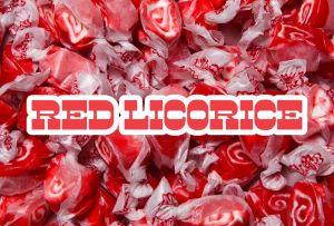 Bulk Taffy Kisses-Red Licorice Swirl
