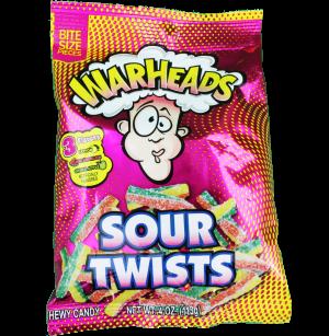 Warheads Twists Peg Bags