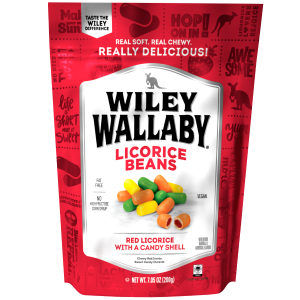 Wiley Wallaby Red Licorice Beans